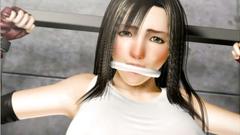 Busty brunette used hard in hot 3D BDSM porn