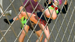 Hardcore banging with busty 3d slut near the fence