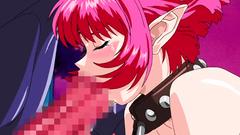 Lovely redhead elf slave blows big demon's cock