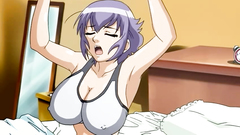 Full breasted hentai cutie passionately banged in her cunt