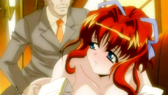 Red-haired hentai beauty banged hard from behind