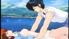 Passionate sex with young anime babe near the lake
