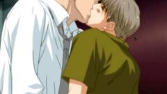 Homosexual love in romantic hentai cartoon