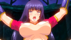 Busty hentai girls in colorful sex cartoon