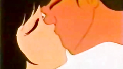Little love story of romantic teens in anime toon