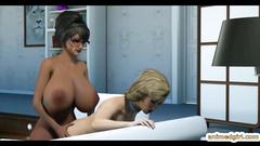 Bigboobs futanari 3D blowjob and slammed fucked
