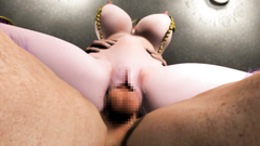 Young girl in armor loves to feel giant cock in her pussy