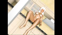 Amazing blonde 3D Elf girl skillfully sucks dick of her boy