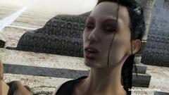 Military guy cruelly fucked Lara Croft
