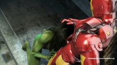 Ironman Tony Stark deeply fucks Hulk woman in her dirty mouth
