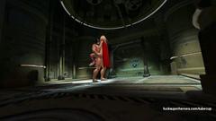 Batman smashed Supergirl in her nasty asshole