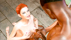 Redhead girl extreme double penetration fucking