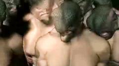 A gang of brutal men-reptiles wildly fucks lost girl