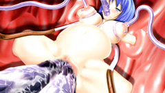 Huge dirty tentacles penetrates in sweet blonde pussy