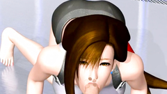 Beauty Tifa with huge boobs makes nice blowjob and anal work | Final Fantasy