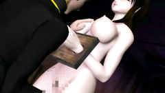 Cute whores in 3D Hetai porn with huge boobs
