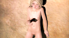 Blowjob by a stunning 3d blondy with amazing body