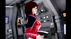 Sex in the spaceship with a yummy brunette - tentacles really enjoy fucking her