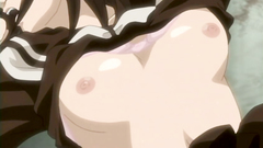 Young big titted hentai babe gets lot of cum in her mouth