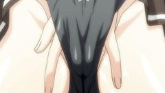 Sexy skinny hentai schoolgirl with cameltoe twat fucks with her classmates