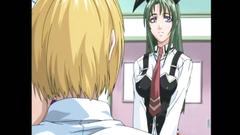 Handsome schoolgirl in the futunari hentai porn toon