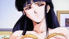 Naughty and seductive babes in hentai porn cartoon