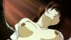 Cruel and brutal hentai porn toon with naughty brunette babe