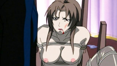 Bondaged busty cutie gets into a real trouble