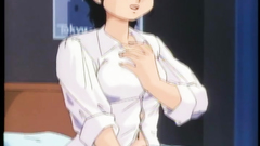 Short-haired brunette has sexy butt in this anime toon