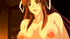 This anime cutie has really massive tits and big nipples