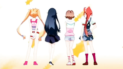 Young and beautiful teens in animated hentai video
