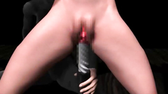 Anime Hooker Fucked With Huge Dildo