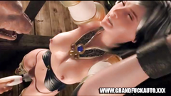 Machine Fuck For 3D Babe