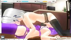 Horny maid futanari oralsex and poked