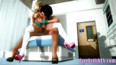 Blonde 3D Futanari Loli Fucks Cute Black Girl
