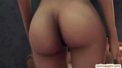 3D hentai sucking shemale giant cock
