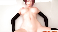 Busty 3D animation hard pussy poking