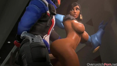 Big boobs Pharah and sexy Mercy threesome sex and more